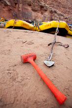Photo: Hammer used for pounding in sand stake while rafting the Grand Canyon. Grand Canyon National Park, AZ.