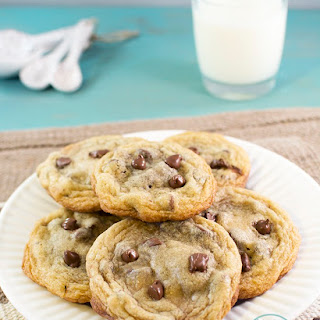 Nutella Stuffed Chocolate Chip Cookies.