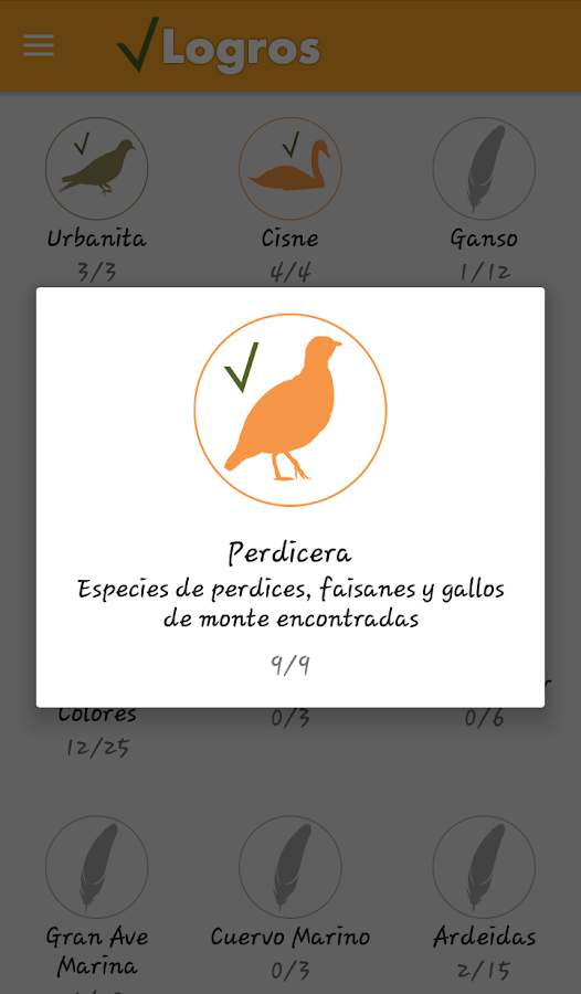 Birds Check: captura de pantalla