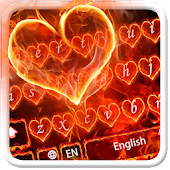 Red Fire Heart Keyboard Theme
