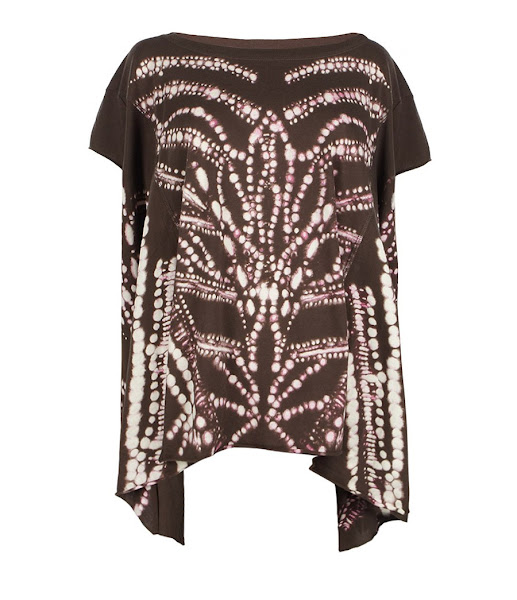 Photo: Bandini Tee>>  UK>http://bit.ly/LZPm3g US>http://bit.ly/ORnNf3  The Bandini Tee features hand painted geometric patterns with hues of pink. They have been placed on our signature Godiva tee.