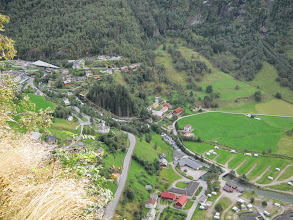 Photo: Geiranger village from the viewpoint