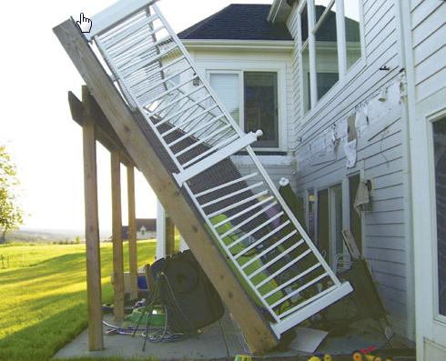 porch fell down