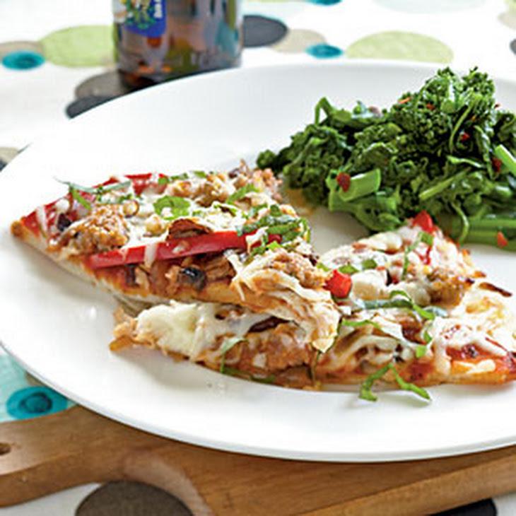 Sausage, Pepper, and Mushroom Pizza Recipe