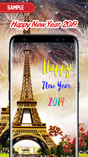 New Year 2019 Wallpaper (Eiffel) 2.0 screenshots 3