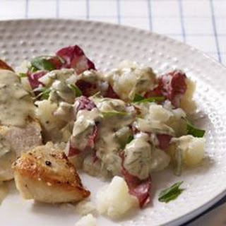 Seared Chicken with Smashed Potatoes & Herbed Pan Sauce Recipe
