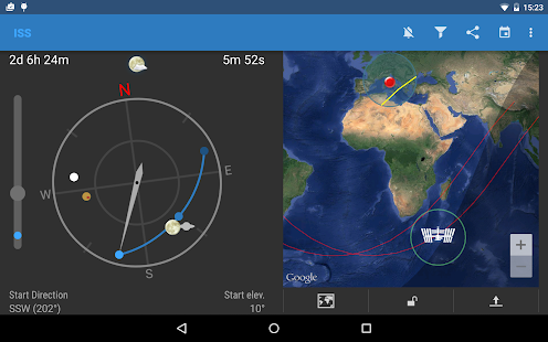 ISS Detector Satellite Tracker - screenshot thumbnail