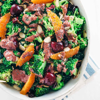 Superfood Broccoli Salad with Cherry Chia Dressing