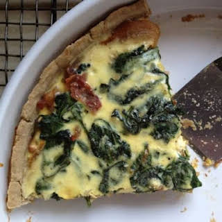 Gluten-Free Spinach and Onion Tart.