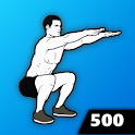 500 Squats - Strong Legs, Home Workout icon