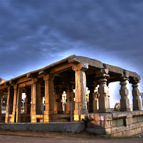 Lost in Time by Aparajita Saha - Buildings & Architecture Public & Historical ( hampi, monument, india, historical, indian architechture, pillars )