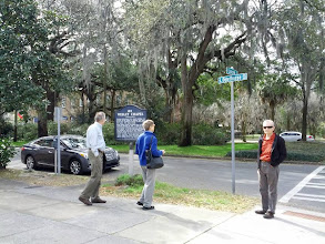 Photo: Fred, Elinor, Randy. We were surprised to find that John Wesley, founder of Methodism, played a prominent role in Savannah.