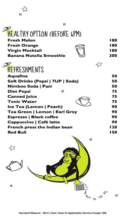 Monkey Bar menu 12