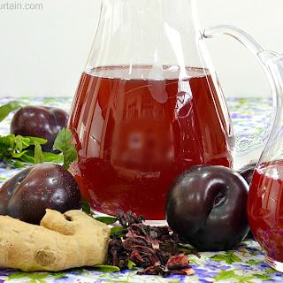 Hibiscus Plum Ginger Tea.