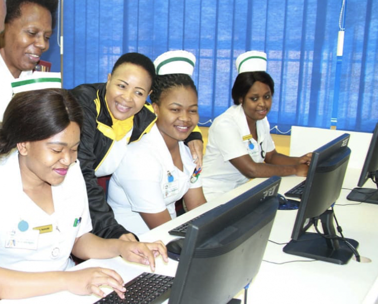 Student nurses at Grey's Hospital in Pietermaritzburg.