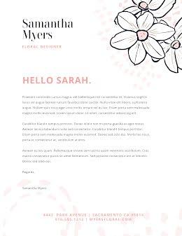 Myers Floral Design - Letterhead item