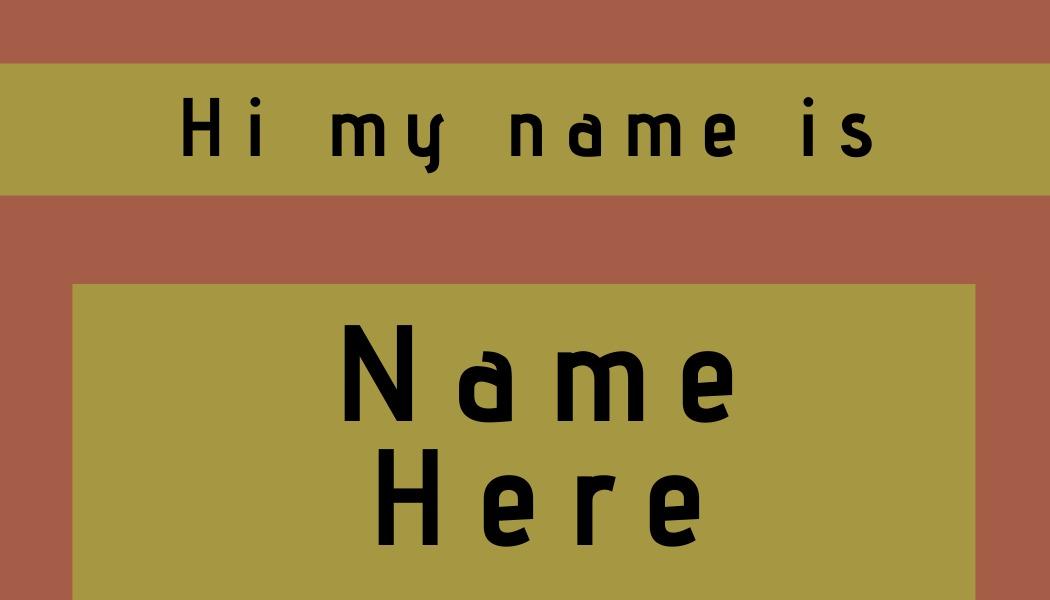 name tag template hi