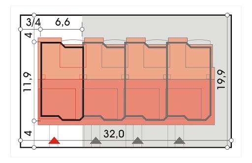 Perełka segment skrajny lewy - Sytuacja