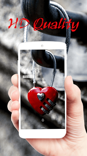 Red Heart Lock Eternal Theme  screenshots 4