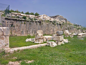 Photo: Rhodiapolis, Stoa Wall behind the Agora .......... Muur van de Stoa achter de Agora