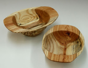 "Photo: Tim Aley - two winged bowls - redbud? - 4.5"" x 2"""