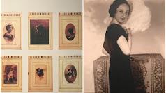 Detalle de portadas de 'El Eco Almeriense' y de 'Berta con abanico de plumas' (Guerry, 1935)