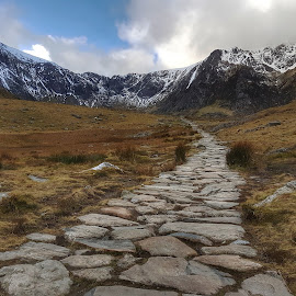 Follow the path by Marie Leather - Landscapes Mountains & Hills ( mountain, cold, path )