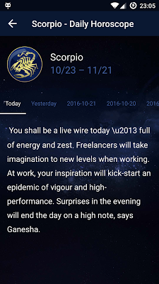 Horoscope - Zodiac Signs Daily Horoscope Astrology - screenshot