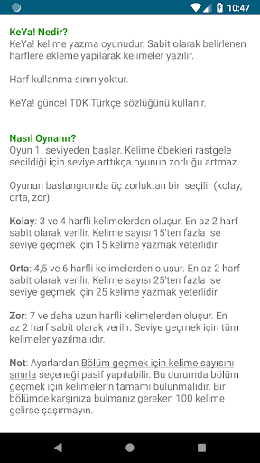KeYa! Turkish word game 1.09 screenshots 7