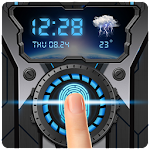 Fingerprint Lock Wheel Gear Prank Icon