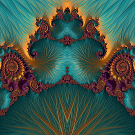 Fun with fractal  by Capucino Julio - Illustration Abstract & Patterns ( abstract, ipad, domination, gray, fractal )