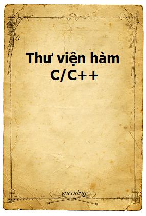 Sổ tay thư viện hàm ngôn ngữ C/C++