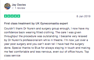 Gynecomastia surgery review London clinic