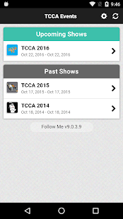 TCCA Events- screenshot thumbnail