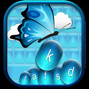 Blue Butterfly Keyboard App