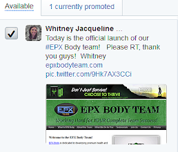 Photo: The EPX Body Team advertises for you and your team free on Twitter