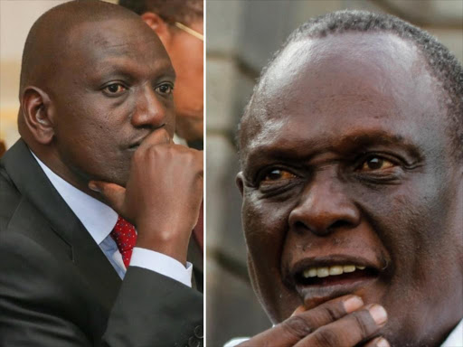 DP William Ruto and Jubilee vice chairman David Murathe.