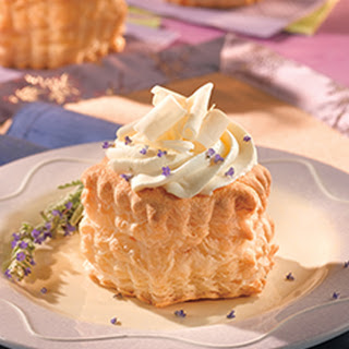Lavender-Infused Mascarpone Mousse Pastries.