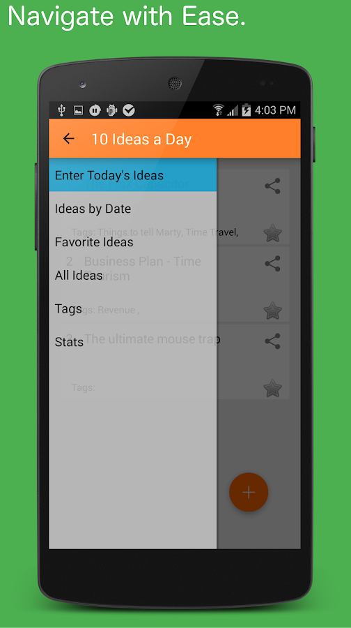 Idea Notebook- screenshot