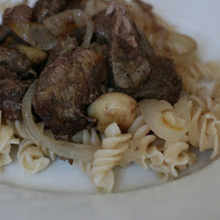 CrockPot Ginger Beef with Onions and Garlic.