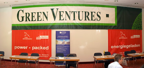 Photo: Green Ventures 2008 - the sponsor's banners in the main meeting hall - photo miltoncontact.com / miltoncontact.co.uk
