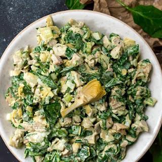 Spinach Artichoke Chicken Salad.