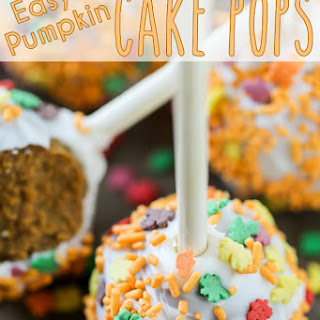 Easy Pumpkin Cake Pops