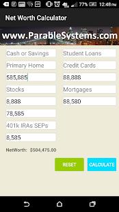 Net Worth Calculator screenshot