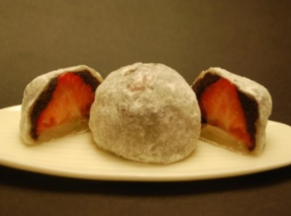 Mochi With Strawberry Brownie Filling Recipe