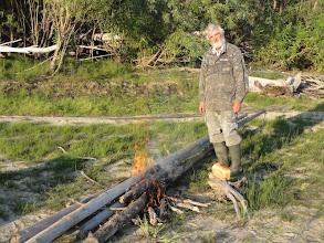 Photo: Стоянка, дров сколько хочешь! Немного хлеб подмочили.