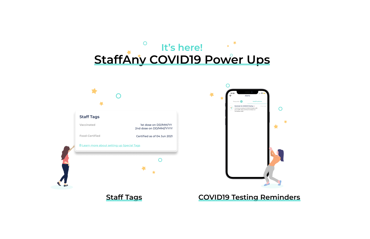 , Stay on top of Covid-regulations with StaffAny's power-ups!