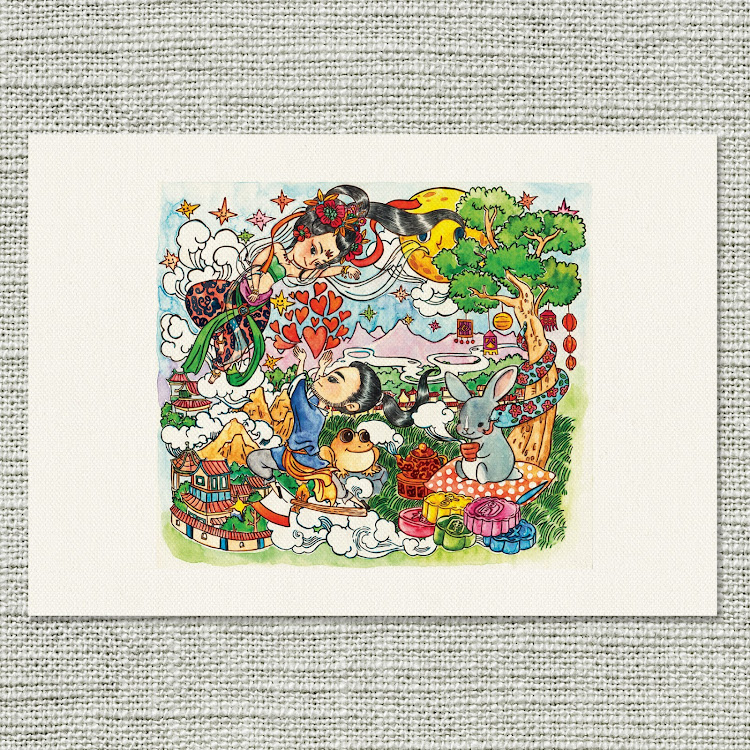 A4 Canvas Print【An Alternate Version of the Mid Autumn Story】 by Jeovine