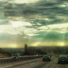 attacking rays by Stephany Gee - Instagram & Mobile Android ( california, attack, light, rays,  )