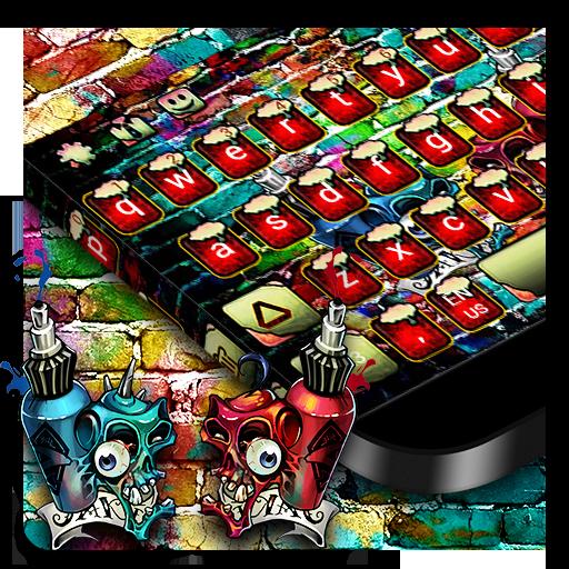 Graffiti Wall Keyboard Theme
